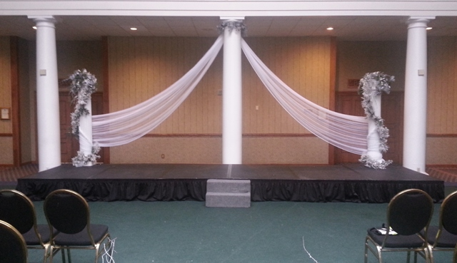 How To Drape Fabric From Ceiling Ceiling Swag Party