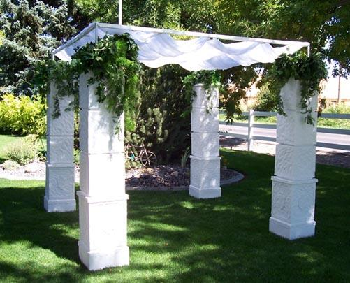 Wedding Gazebos, White Iron Gazebo, Satin Gazebo, Country