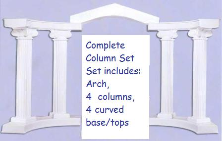 complete column set with 96 columns382500 includes 4 96 scamozzi top columns 4 curved quarter round basetops 1 columnade arch