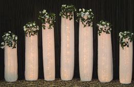 How To Make Diy Lighted Wedding Columns.Wedding Backdrops Backgrounds Decorations Columns