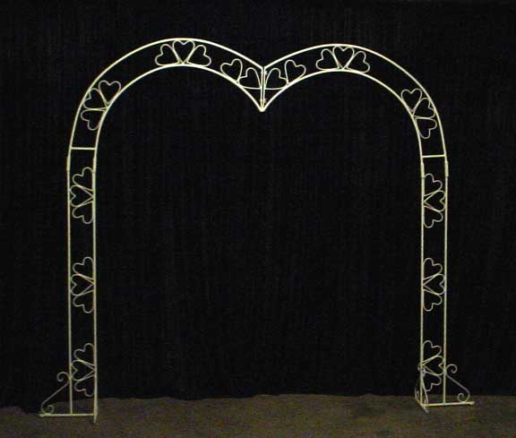Wedding Garden Arches White iron arches Country Creations rental